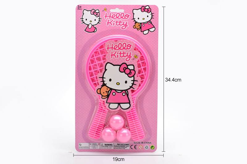 Sports Toy Grid Racket Toy (KT Cat-Pink) No.TA249724