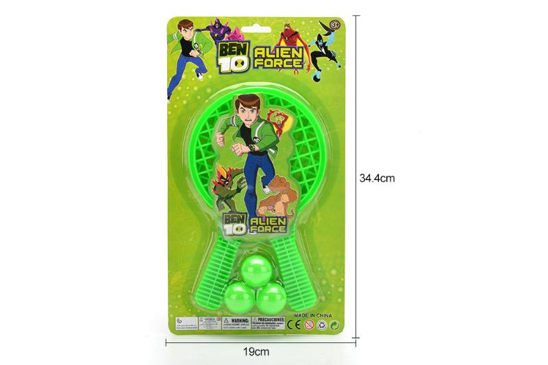 Sports Toys Grid Racket Toys (BEN10-Green) No.TA249726