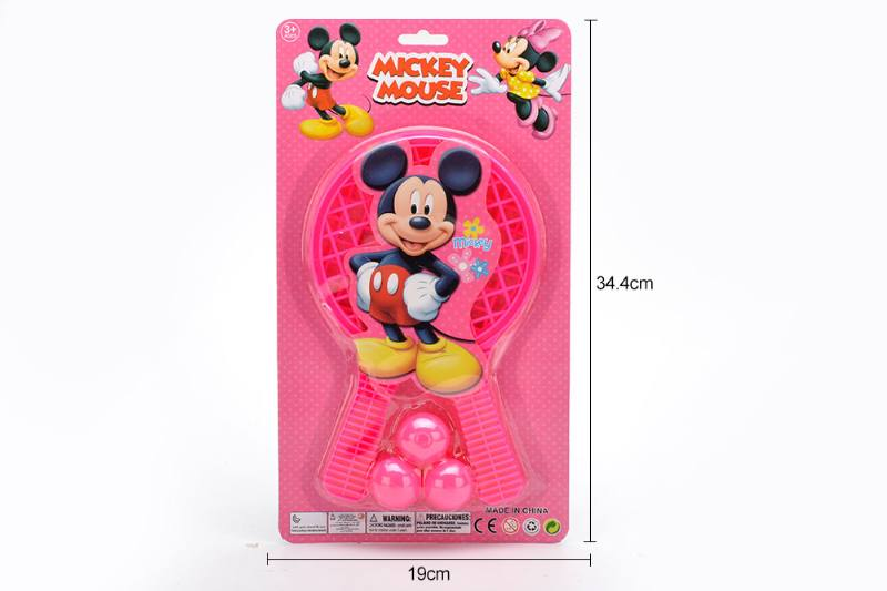 Sports Toy Grid Racket Toys (Mickey - Pattern Red) No.TA249727