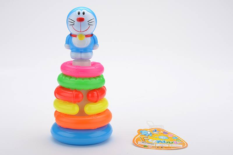 Colorful Cartoon Circle Toys 6 Layers Notch Loops Jingle Cat No.TA233841