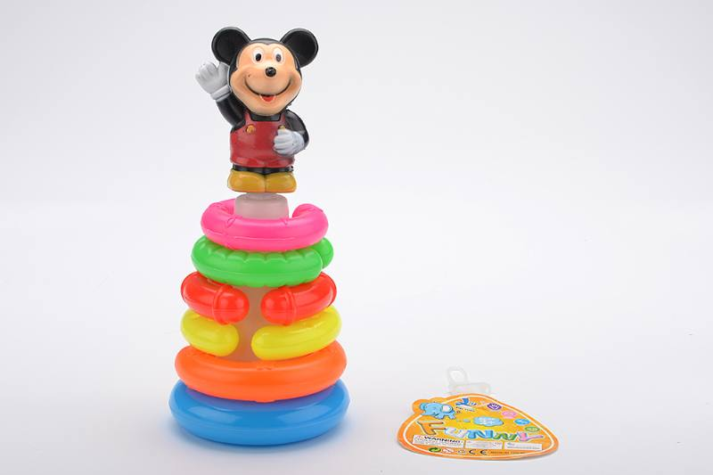Colorful Cartoon Ring Toys 6 Layers Notch Ring Mickey Mouse No.TA233842