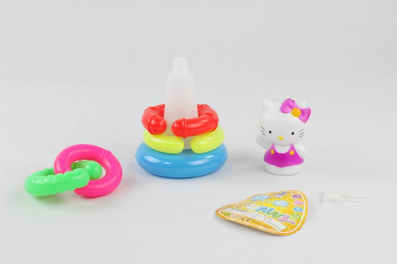 Colorful Cartoon Circle Toys 5 Layer Notch Loop KT Cat No.TA233847