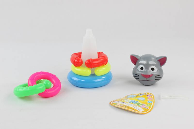 Colorful Cartoon Ring Toys 5 Layers Notch Loops Tom Cat No.TA233853