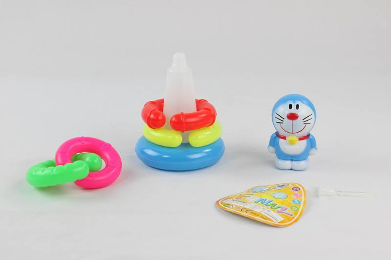 Colorful Cartoon Circle Toys 5 Layers Notch Loops Jingle Cats No.TA233854