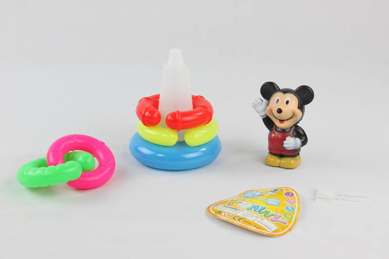 Colorful Cartoon Circle Toys 5 Layers Notched Loop Mickey Mouse No.TA233855