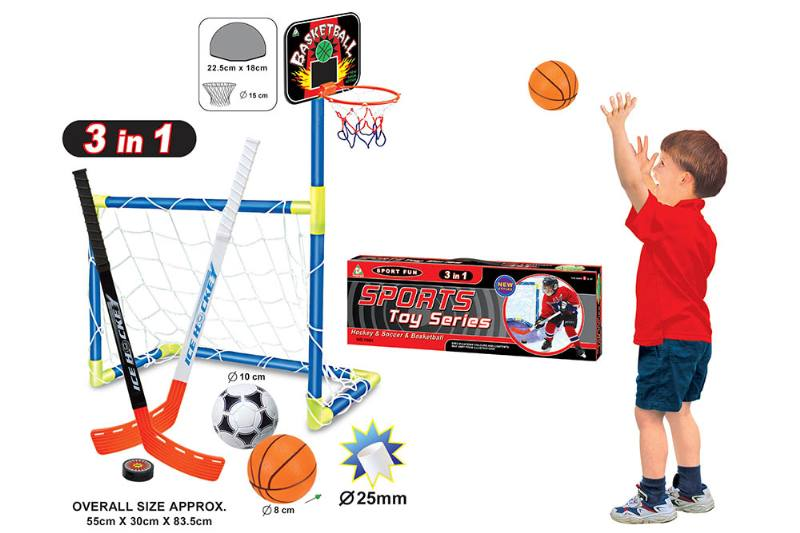 Sports Toys Foot. Basket. Ice hockey three-in-one baby indoor and outdoor exercise toys No.TA174285
