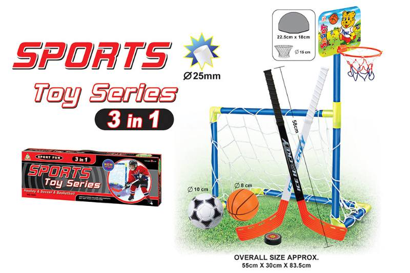 Sports Toys Foot. Basket. Ice hockey three-in-one baby indoor and outdoor exercise toys No.TA174286