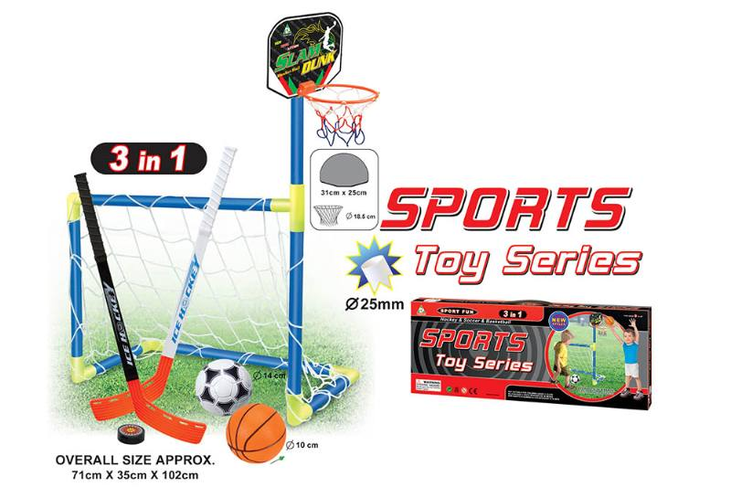 Sports Toys Foot. Basket. Ice hockey three-in-one baby indoor and outdoor exercise toys No.TA174291