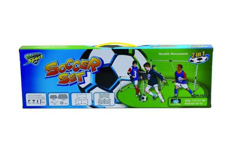 Plastic soccer goal shot outdoor sports Sports toys Big soccer goal (two in one) No.TA248551