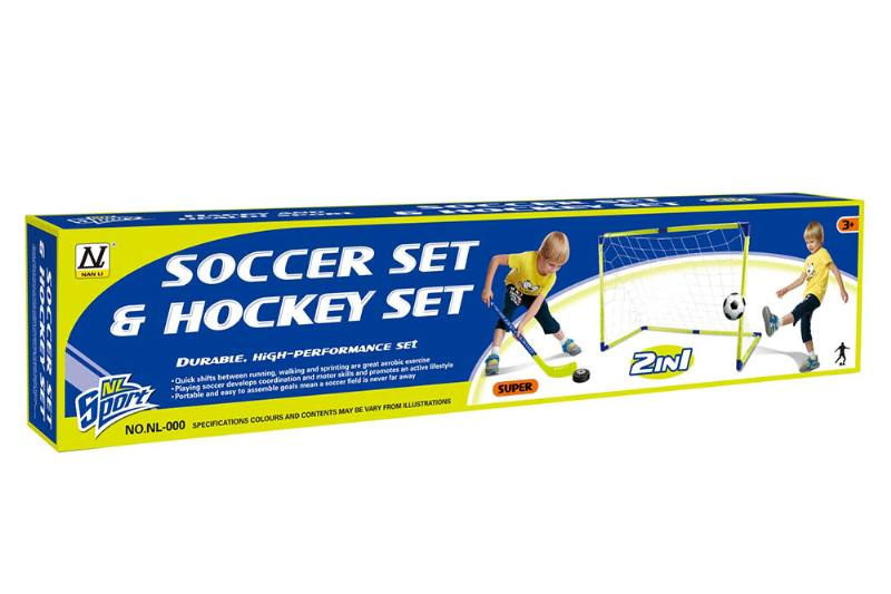 Plastic soccer goal shot outdoor sports Sports toys Football goal Hockey (two in one) No.TA248559