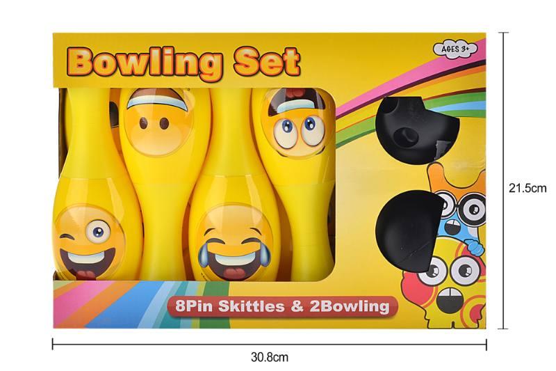 Bowling toy 22CM WeChat expression bowling 8 bottles 2 balls No.TA253288
