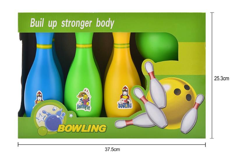 Bowling toy 25CM three-color bowling No.TA253292