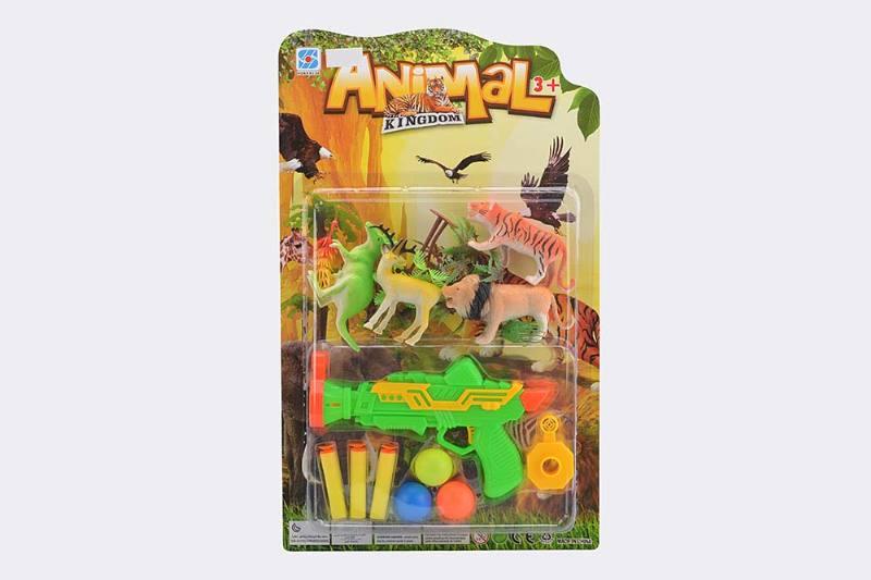 Military soft bullet gun toy series Soft bullet gun animal combination No.TA238250