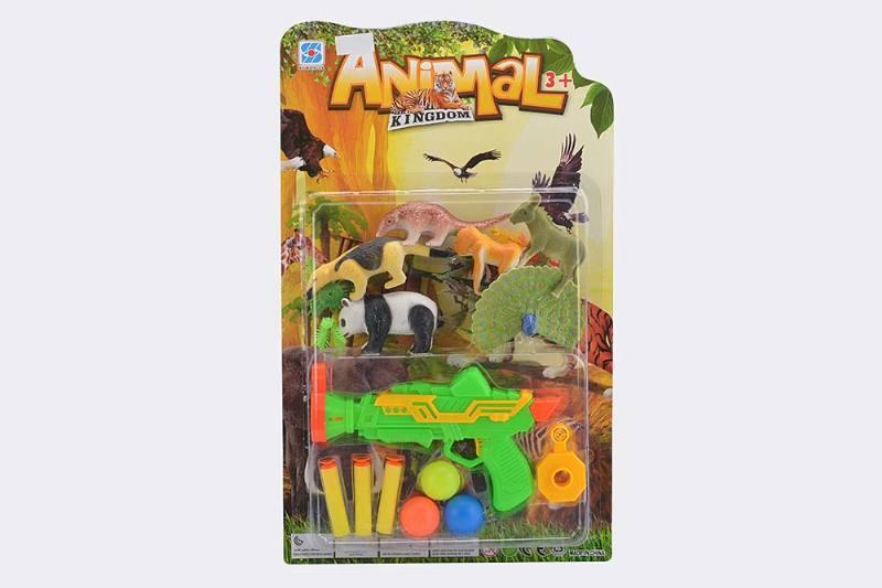 Military soft bullet gun toy series Soft bullet gun animal combination No.TA238251