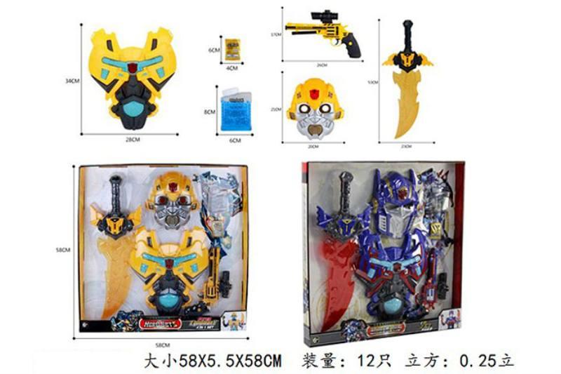 Military Water Bullet Soft Guns Toy Series Rong Kai Hornet Optimus Prime Suit Set/Light Mu No.TA242200