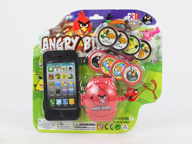Catapult Toy Cell Phone with Launcher (Angry Bird) No.TA109962