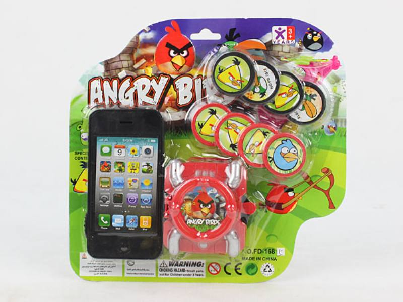 Catapult Toy Mobile Phone with Launcher (Angry Bird) No.TA109963