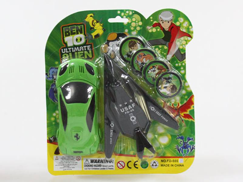 Catapult toy aircraft with car (transmitter) No.TA109967