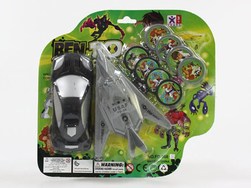 Catapult toy aircraft with vehicle launch kit (BEN10) No.TA109969