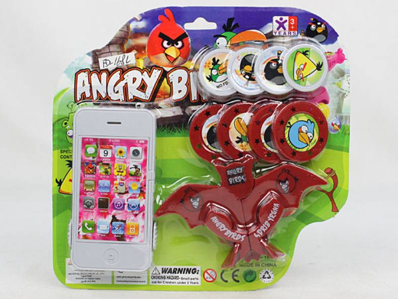 Catapult Toy Apple Phone Launcher with Bat Launcher No.TA110047