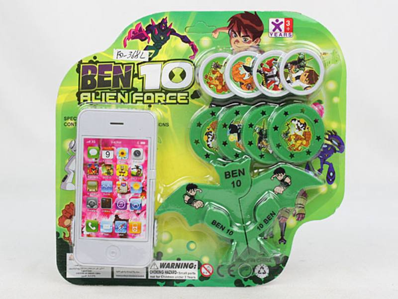 Catapult toy Apple phone transmitter with bat launcher BEN10) No.TA110048