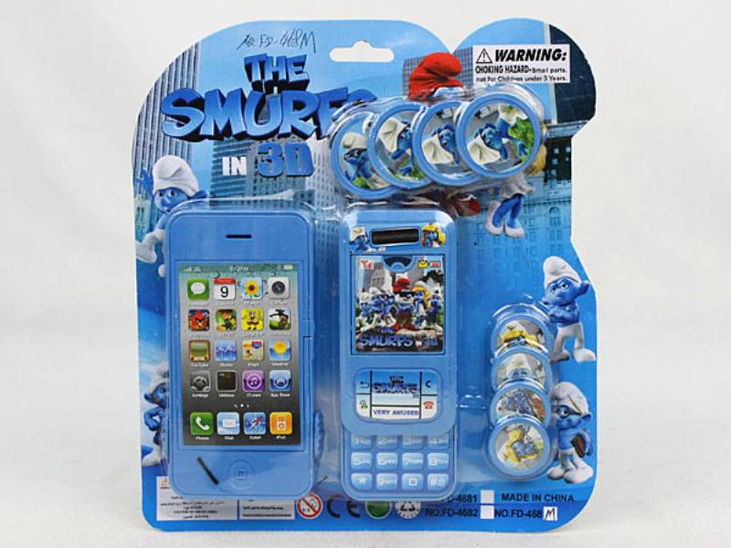 Catapult Toy Smurf Apple iPhone with Mobile Phone No.TA110055