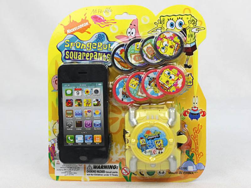 Catapult Toy Spongebob 2 with Apple iPhone No.TA110056