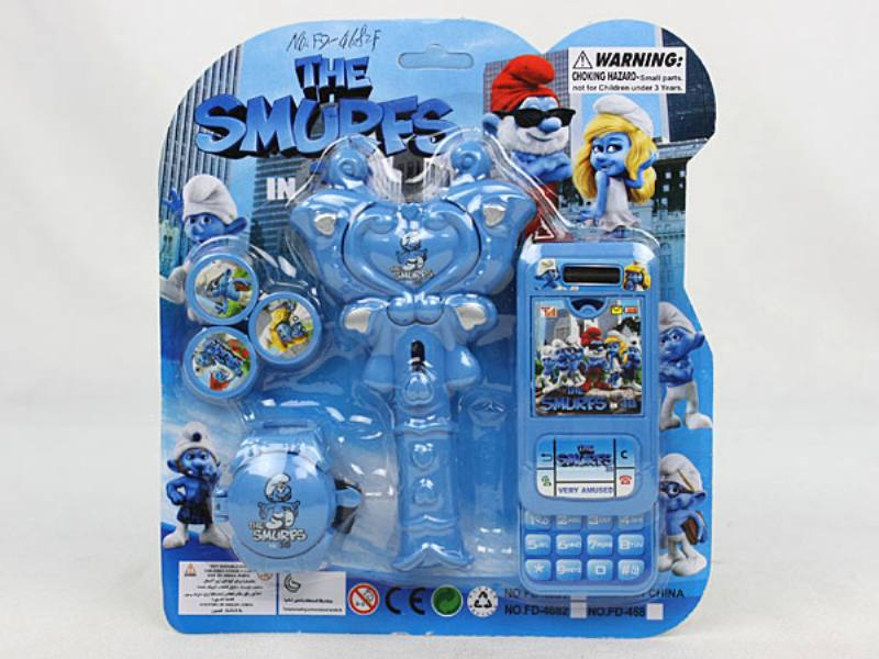 Catapult Toy Smurf Launcher No.TA110059