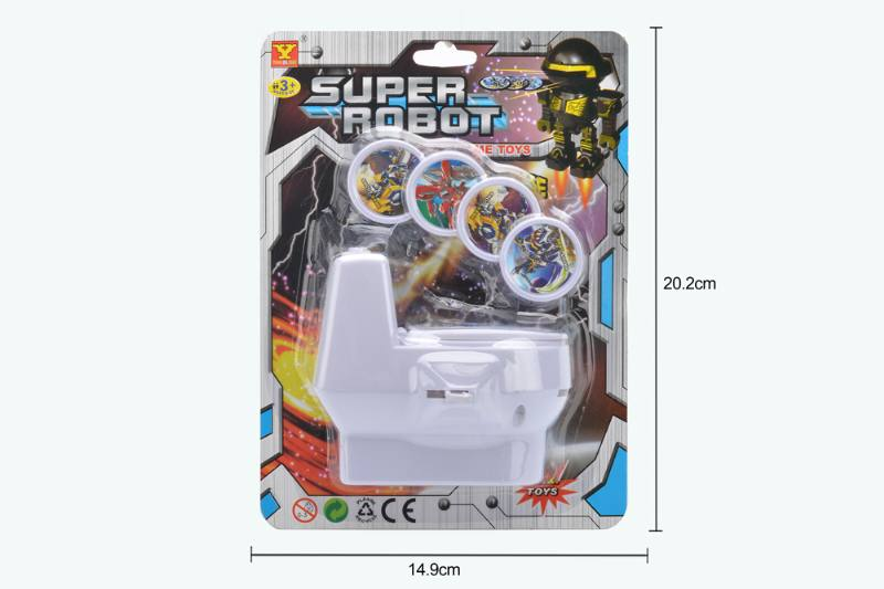 Catapult toy toilet launcher (robot pattern) No.TA252934