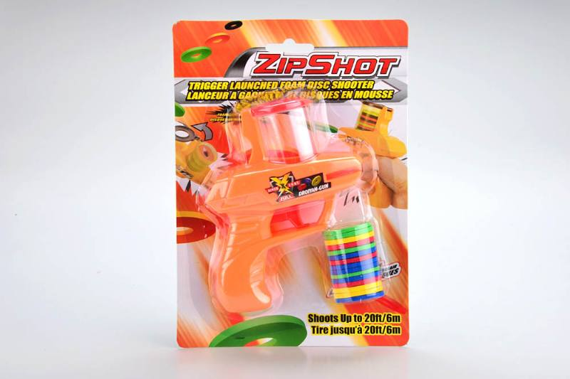 Cool handle spinning top toy rubber band gun No.TA187191