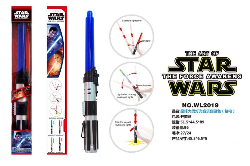 Flash Sword Toy Series Star Wars Light Music Sword Blue (included battery) No.TA225656
