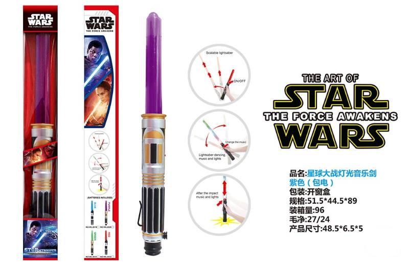 Flash Sword Toy Series Star Wars Light Music Sword Purple (included battery) No.TA225657