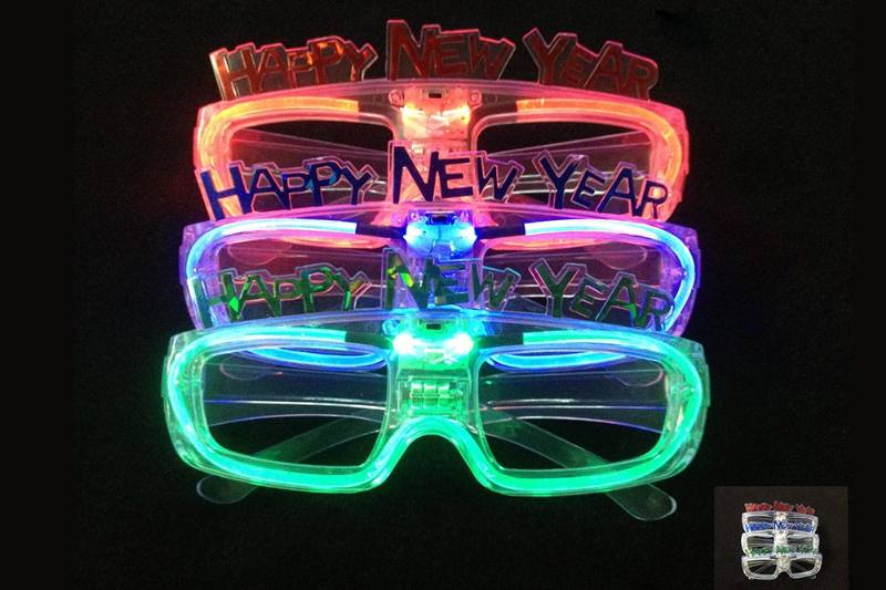 Flash Toy Series HAPPY NEW YEAR Sound Control Glasses No.TA229160