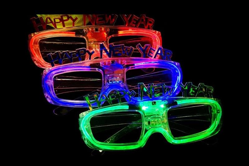 Flash Toys Series HAPPY NEW YEAR Flash Glasses No.TA229162