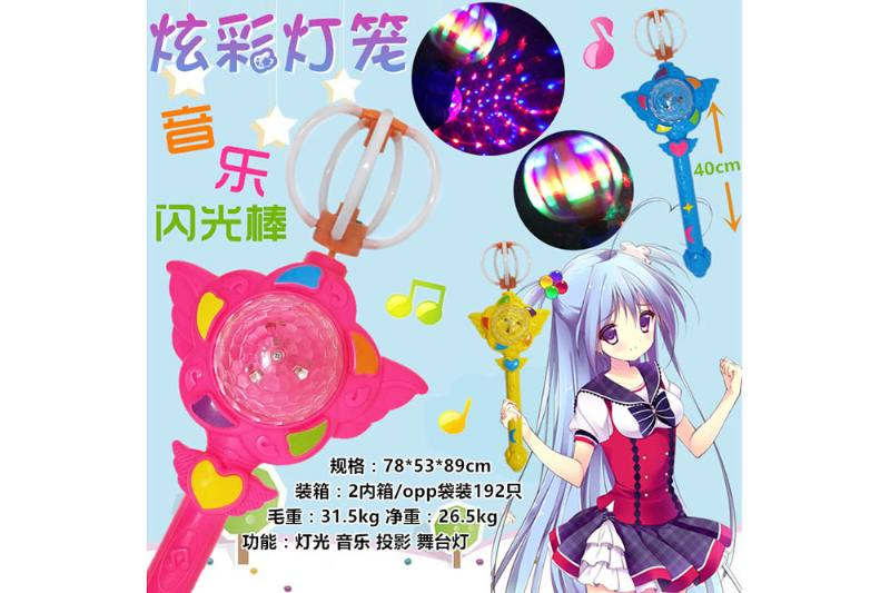 Colorful lantern music flash stick No.TA250836