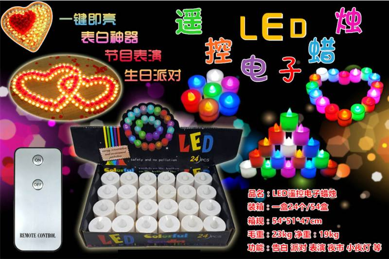 LED remote control electronic candle No.TA250839