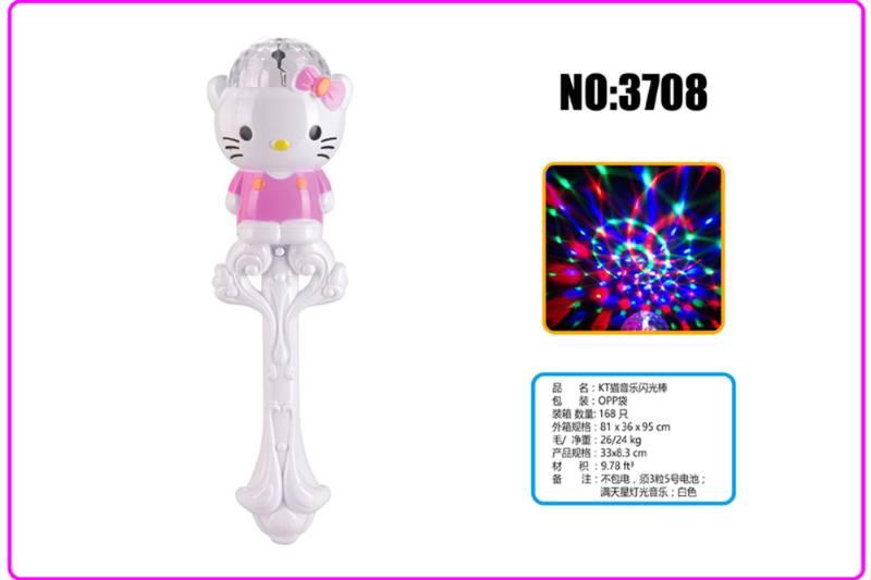 Light Gyro Educational Toys KT Cat Music Flash Stick No.TA253719