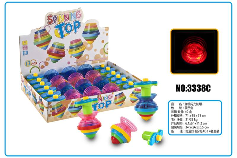 Light gyro, educational toy, bouncing flash gyro No.TA253673