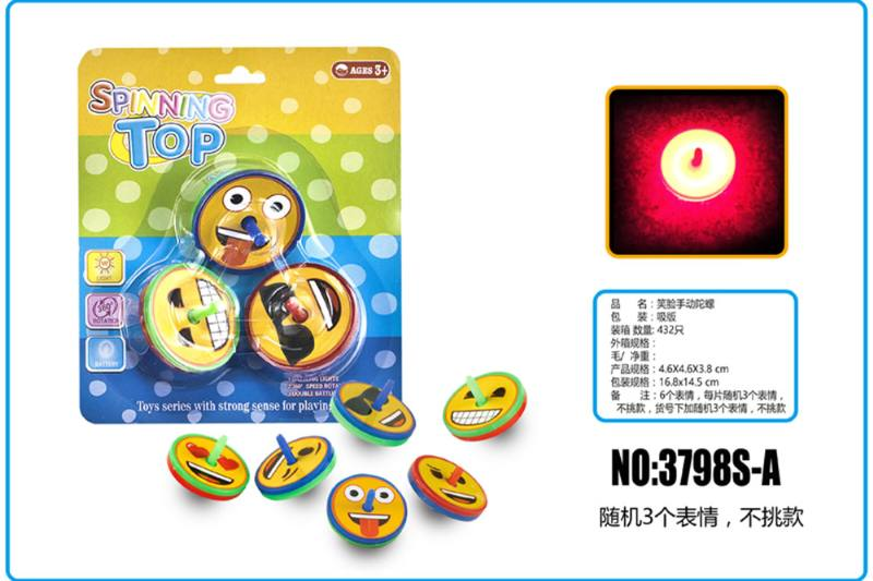 Educational toy, smiling face, gyro No.TA253741