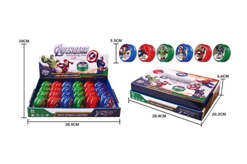 Avengers Yo-Yo with lights (six mixed) No.TA254078