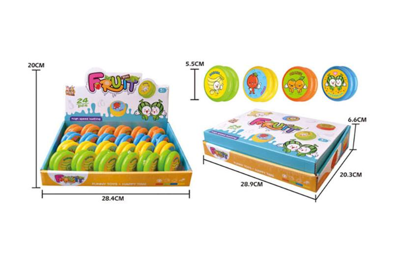 Fruit pattern yo-yo with lights (four mixed) No.TA254079