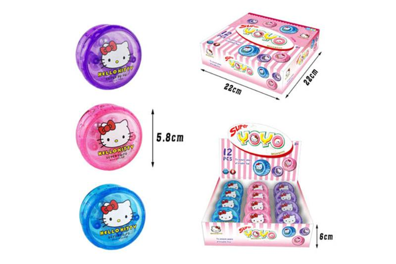 KT cat double clutch yo-yo with light (three colors mixed) No.TA254084