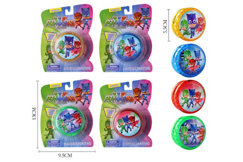 Masked Peter Pan yo-yo with lights (four mixed) No.TA254085