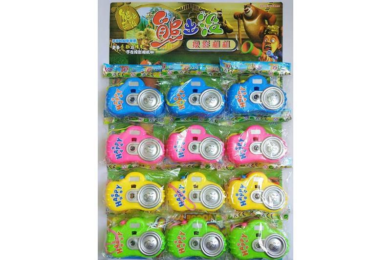 Children's cartoon camera toy series hanging plate cartoon light projection camera (includ No.TA236246