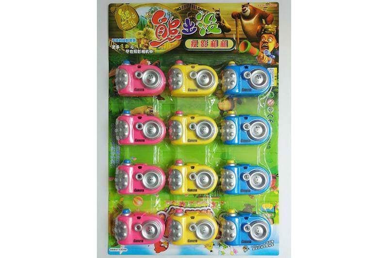 Children's cartoon camera toy series hanging plate cartoon light projection camera (includ No.TA236248