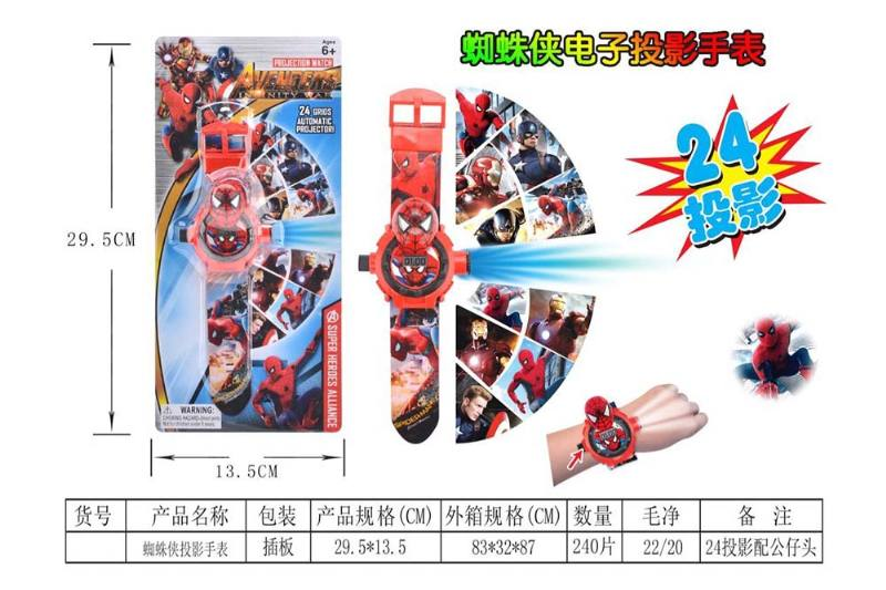 Child cartoon projection watch series Spiderman projection watch No.TA240157