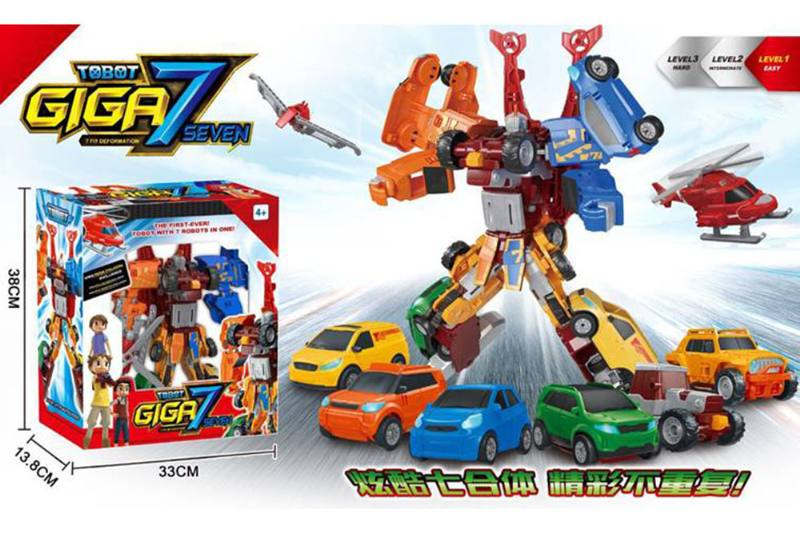 Transforming Toys Tobo Brothers 7 in 1 Fitted CarNo.TA256243