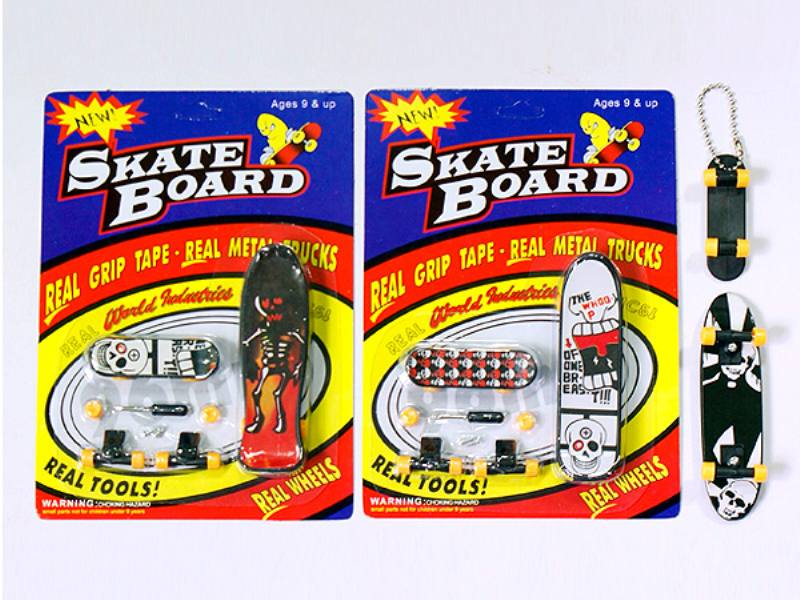Finger Skate Boarding Finger skateboard with key chain Educational Sport Toys No.TA109583