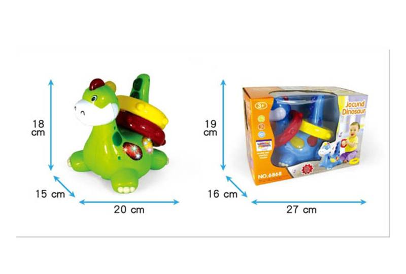 Light music universal electric induction ring cartoon dinosaur No.TA254486