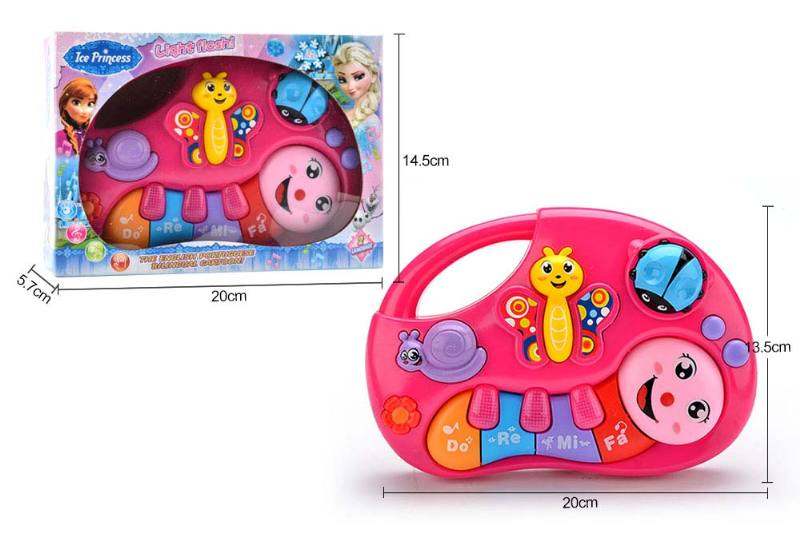 Musical Instrument Toys English, Portuguese Bilingual Keyboard Snow and Ice Princess No.TA246981